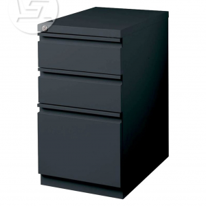 Cajon Drawer Black File Cabinet