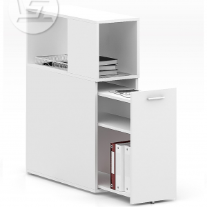 Case Full Height Pedestal (with top cabinet)