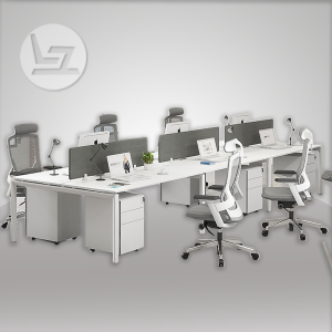 Cuadro Series Cluster of 6x Face to Face work station