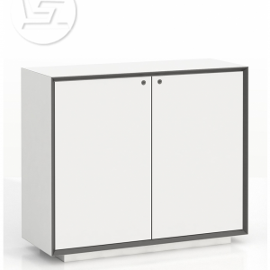Edge Series Chamfered  Low-height 2 door white cabinet